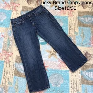 Lucky Brand Cropped Blue Jeans Size 10 x 30